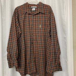 COLUMBIA MENS OUTDOOR LONG SLEEVE PLAID XXL SHIRT